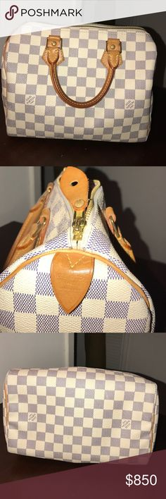 Speedy 25 Damien Azur Louis Vuitton In beautiful condition, great size for everyday. You will fall in love with this bag Louis Vuitton Bags