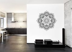 ik367 Wall Decal Sticker mandala hamsa hand Buddha Hindu Hinduism Ornament