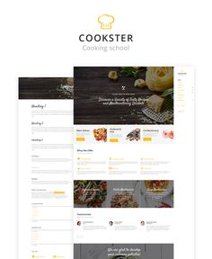 Website Theme , Cookster - Cooking School Responsive Multipage