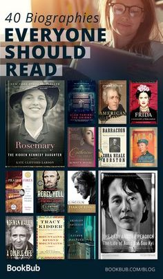 40 biographies everyone should read, including inspiring nonfiction books for your reading list. #nonfiction #bookbub