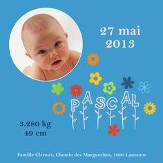 Faire-Part Naissance Suisse avec Photo Des fleurs pour la bonne humeur Wordpress, About Me Blog, Good Mood, Switzerland, Cards, Flowers