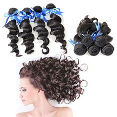 Double Drawn Virgin Indian Remy Hair Extension Bouncy Shinny Loose Wave Spiral Curly Human Hair Weave Bundles without Any Shedding #Pls feel free to contact me.  Email:brenna@eunicehair.com Whats App:+86-15002057323 Skype:brenna1018