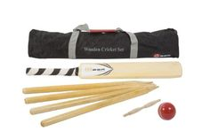 From 35.00 Wooden Cricket Set - A Fantastic Entry Level Cricket Set That Includes A Size 3 Wooden Cricket Bat A Full Size Rubber Cricket Ball 4 Wooden Stumps And A Wooden Bail. All In A Nylon Storage Bag.