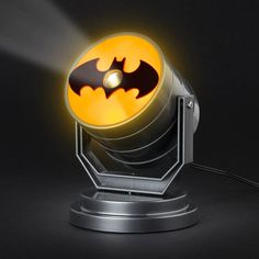 You don't need to live in Gotham City to signal Batman. This cool lamp projects the Batman logo onto a wall or ceiling. Batman Logo, Lego Batman, Batman Signal, Study Room Decor, Cool Lamps, Gamer Room, Light Project, Mans World, Gotham City