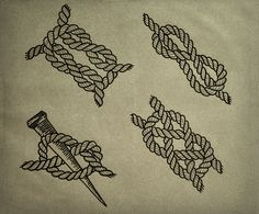 Sailor Knot Tattoo by Guilherme Hass, via Behance