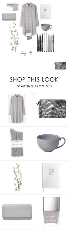 """""""Monochrome"""" by sosofo ❤ liked on Polyvore featuring Steven Alan, Casetify, Faber-Castell, Splendid, Juliska, Pier 1 Imports, Sloane Stationery, FOSSIL, Butter London and comfy"""