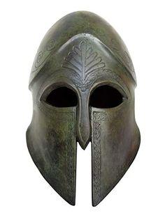 Talos Artifacts Corinthian Bronze Helmet - Handmade in Greece - Spartans Athenians Hoplite Elves Fantasy, Fantasy Armor, Sculpture Head, Lion Sculpture, Greek Helmet, Corinthian Helmet, Head And Neck, Ancient Greece, World Cultures