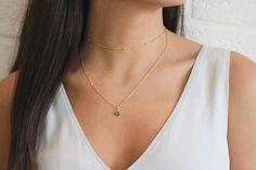 Beaded Choker Necklace, Satellite Choker Necklace, Dew Drop Choker Necklace, Dainty Gold Choker, Layered Chokers, Gift for Her