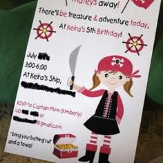 Princess Pirate Party...See Princess and Pirate Inflatable rentals at http://www.astrojump.com/nwatlanta.htm