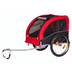 """$189.00 A dog bike trailer to enjoy bike riding and the outdoors with your loyal companion. Fits up 80 lbs dog. Safety flag included.   Cabin dimensions: 30"""" L x 21"""" W x 22"""" H  Folded dimensions: 23"""" L x 15"""" W x 8"""" H"""
