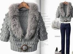 Crochet Jacket With Fashionable Pattern. Wonderful - Crochet Baby
