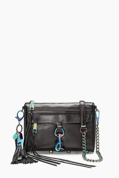 850aae2b7 Rebecca Minkoff Always On Mini M.A.C. Crossbody Black Oil, Work Tote,  Convertible Backpack,