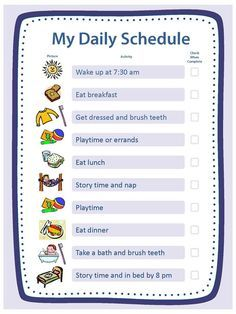 Free Blank Templates For Daily Schedule, Chore Chart, Reward Chart U0026 Family  Rules At
