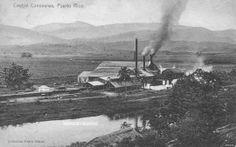 Central Canovanas, Canovanas, Puerto Rico. Operó entre los años 1905-1965. Capacidad: 3,000 toneladas por día.