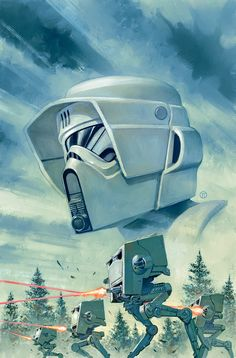 """Star Wars: Shattered Empire"""" #4 variant cover by Julian Totino Tedesco *"""