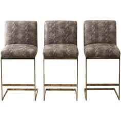 Set of 3 Bar Stools by Milo Baughman, Circa 1970 | From a unique collection of antique and modern stools at http://www.1stdibs.com/furniture/seating/stools/