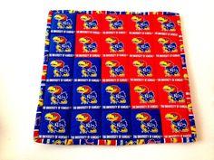 University of Kansas Kansas fabric Kansas Mini Quilt by 2Fun4Words