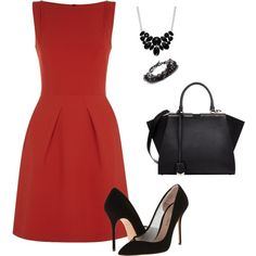 Red and Black | Roland Mouret, Kurt Geiger, Fendi and Style & Co.
