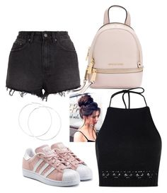 """""""L.A.✅"""" by mervecet ❤ liked on Polyvore featuring Ksubi, MICHAEL Michael Kors, Boohoo and adidas Originals"""