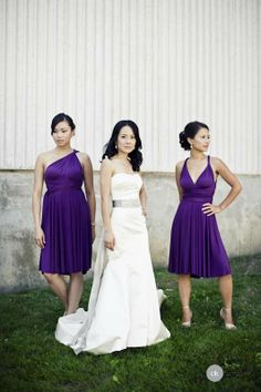 Purple Infused Wedding by Claudia Hung Photography  Read more - http://www.stylemepretty.com/2011/02/23/purple-infused-wedding-by-claudia-hung-photography/