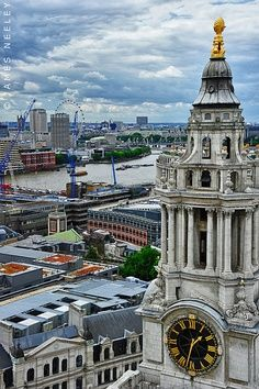 View from St. Paul's Cathedral, London…my son climbed the 1500+ steps to the top in 2009 when we went there…said view was amazing!