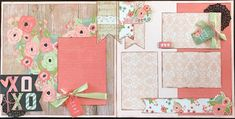 2 page scrapbooking layout kit -12x12. This kit has been created by Crop-A-Latte. All items are precut and ready to assemble. Youll also receive easy to follow instructions with a photo of the finished kit.