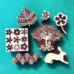 Craft - buy animal print Colouricious wooden printing blocks - for your craft…