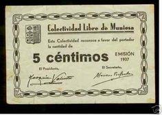 Spain - 1937-38. - GC - BILLETE DE MUNIESA (Teruel) 5-CNT-MBC