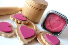 Wooden Toy BAKING TIME  A Valentines Day Wood n by applenamos, $35.00