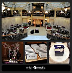 Purple, crystal, wedding, The Rookery Chicago. Flowers by Vale of Enna. Photos by Misha Media Photography.