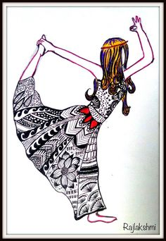 Zentangle - Yoga Girl