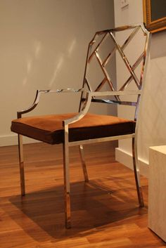 Design Institute of America Milo Baughman chrome Chinese Chippendale chair. $795.00, via Etsy.