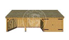 BYL3016   The Byton Low Ridge™   Oak Framed Garages and Outbuildings Carport Designs, Garage Design, Man Cave Garage, Car Garage, Timber Garage, Cottage Renovation, Roof Covering, Lean To, Garden Buildings
