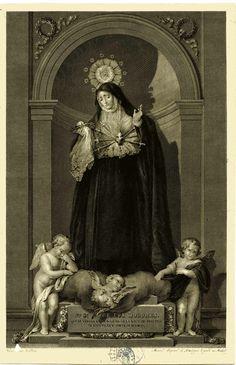 Manuel Esquivel de Sotomayor 1777-1842 Ntra. Sra. de los Dolores Venerada en la Iglesia de la V.O.T de Madrid, aguafuerte y buril