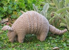 Armadillo Knitted Toy Pattern PDF by mamma4earth on Etsy, $5.00 by Connie Preston