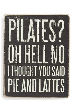 PRIMITIVES+BY+KATHY+'Pilates?'+Box+Sign+available+at+#Nordstrom
