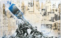 'Artistic Freedom', by Mr. Brainwash, graffiti style art, collage art, pop art