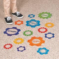 Gears Floor Decals - OrientalTrading.com