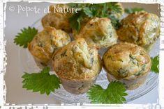 © Popote et Nature - Muffins aux orties et à la fourme d'Ambert