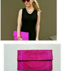 SOLD! PINK ENVELOPE PYTHON SNAKESKIN CLUTCH SUPER HOT & SUMMER SEXY TOP TRENDING ITEM FOR A POP! OF COLOR TO ANY OUTFIT. BROUGHT AT A BOUTIQUE. UNSURE OF DESIGNER BUT IMPECCABLY MADE. LARGE INSIDE IS SUEDE Boutique Buy Bags Clutches & Wristlets
