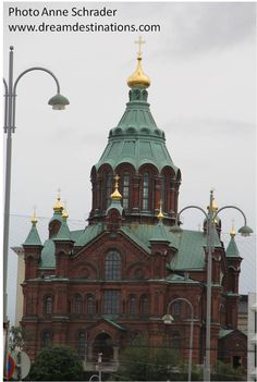Uspensky Cathedral Helsinki Finland This is an Orthodox Christian Cathedral 2014 European River Cruises, Orthodox Christianity, Helsinki, Finland, Sweden, Taj Mahal, Cathedral, History, Country