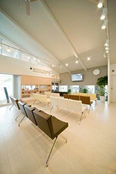 内科医院。店舗デザイン;名古屋 スーパーボギー http://www.bogey.co.jp