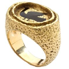GEORGES BRAQUE Gold and Enamel Ring (1960's) France 1960's
