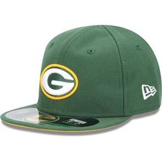 New Era Green Bay Packers Infant/Toddler My 1st On-Field 59FIFTY Football Structured Fitted Hat