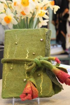 The Tin Thimble: Nuno Felted Journal Cover
