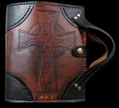 Custom Handmade Leather Binders, Bible Covers and Leather Bible Cover, Leather Book Covers, Leather Bound Journal, Leather Bound Books, Leather Binder, Leather Notebook, Leather Carving, Leather Tooling, Bible Bag