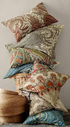 Pillows are the easiest way to change your decor for the season. Mix and match colors and textures to give your living room (and your sofa!) a whole new look.