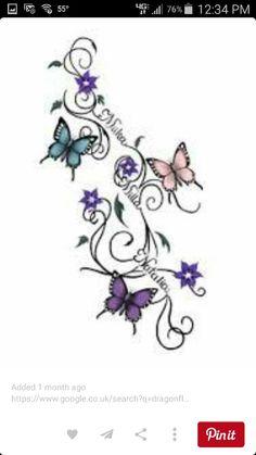 Small tattoo designs for women Tattoo-Design-Screativity-Tattoos — small foot-tattoo-designs-for-wom Butterfly Tattoo Designs, Small Tattoo Designs, Tattoo Designs For Women, Tattoos For Women Small, Butterfly Name Tattoo, Butterfly Tattoos With Names, Infinity Butterfly Tattoo, Design Tattoos, Butterfly Dragon