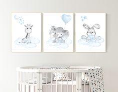 Nursery decor elephant and giraffe animal nursery prints Map Nursery, Nursery Decor Boy, Animal Nursery, Nursery Prints, Nursery Room, Bedroom, Baby Room Wall Art, Art Mural, Baby Boy Rooms