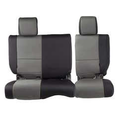 FIA NP92-38 Black with Gray Cover Rear Split Seat 60//40//Neoprene Center Panel